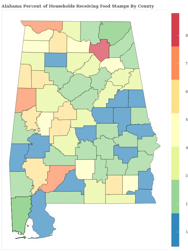 Alabama Food Stamp Statistics
