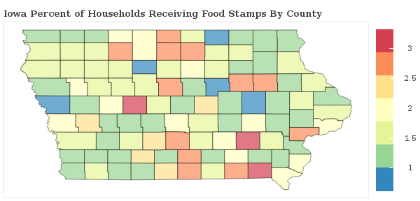 Iowa Food Stamp Statistics